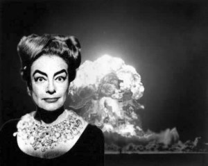 July 27, 1958: Actress Joan Crawford detonates an atomic bomb, becoming the world's fourth nuclear power and heightening Cold War tensions.